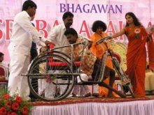 Tricycle distribution for handycapped by Balasai Central Trust